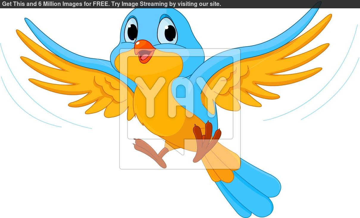 Blue Bird Flying Clipart - Clipart Suggest
