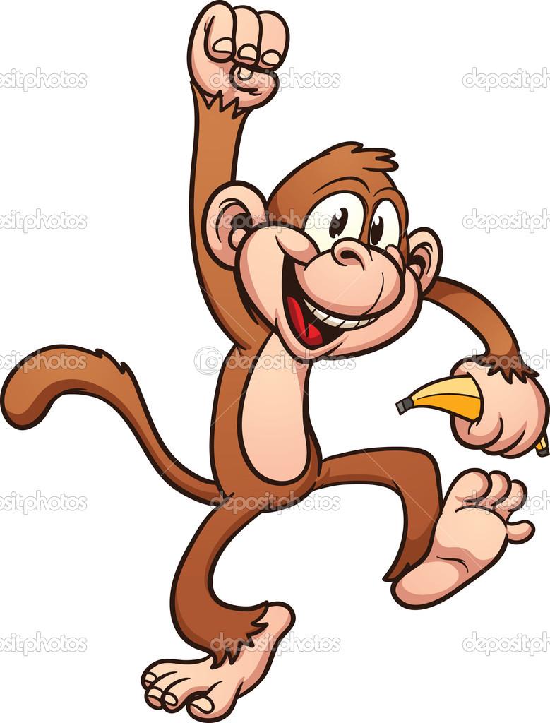 Animated Monkey Clipart - Clipart Kid