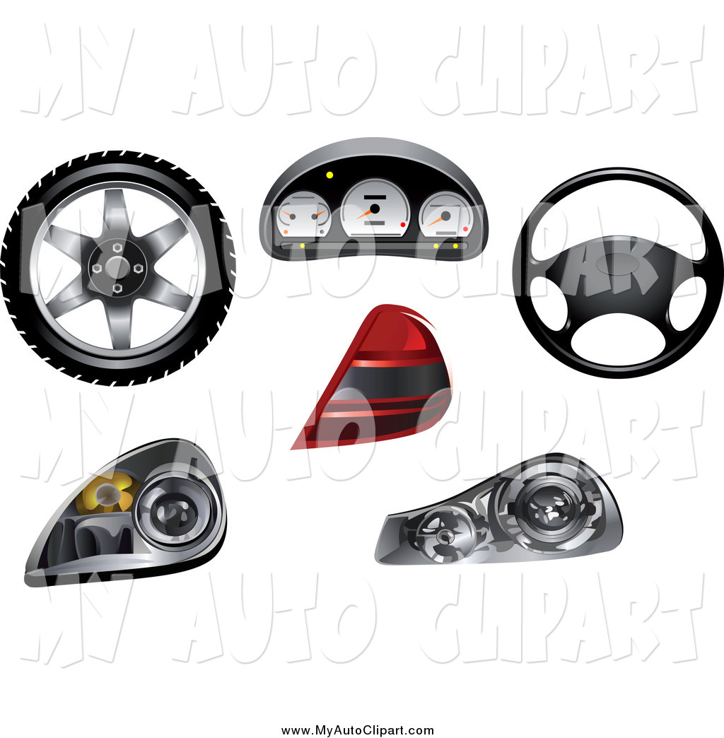 Larger Preview  Clip Art Of Automobile Parts By Seamartini Graphics