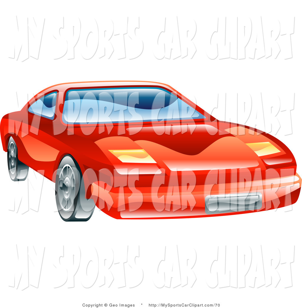Larger Preview  Clip Art Of The Front Of A Shiny Red Car With Flip