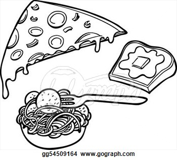 Noodles Clipart Black And White Clip Art Vector Italian Food