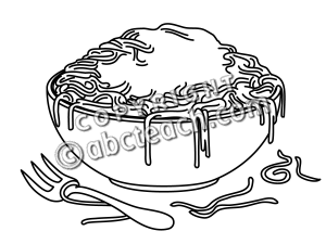 Pasta Noodles Clipart Black And White Clip Art  Pasta B W   Preview