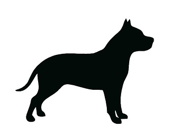 Pit Bull Silhouette Clipart - Clipart Kid