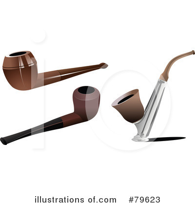 Royalty Free  Rf  Tobacco Pipe Clipart Illustration By Leonid   Stock