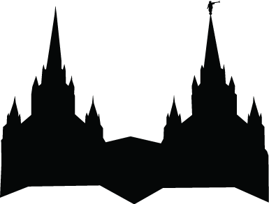 Lds Temple Silhouette Clipart - Clipart Kid