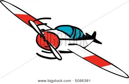 Single Propeller Plane Stock Vector   Stock Photos   Bigstock