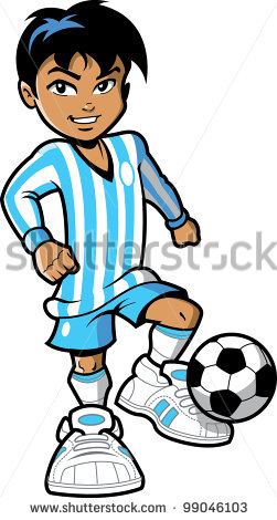 Smiling Young Man Boy Fifa Soccer Football Player With Soccer
