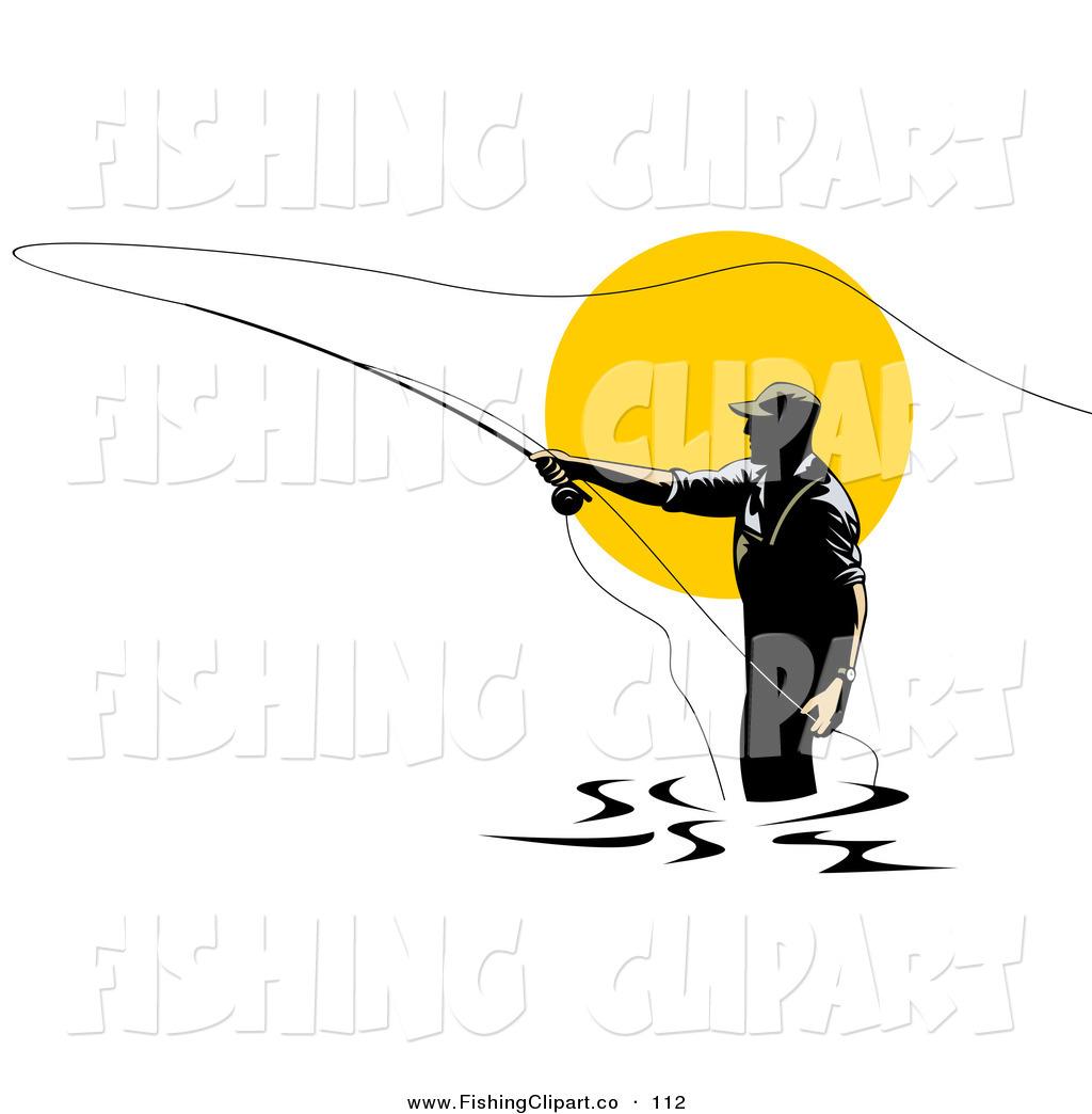 fly fisherman drawing - photo #41