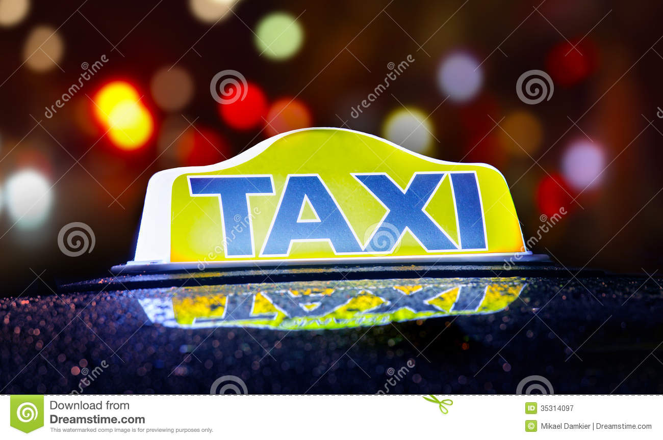Taxi Sign Royalty Free Stock Photography   Image  35314097