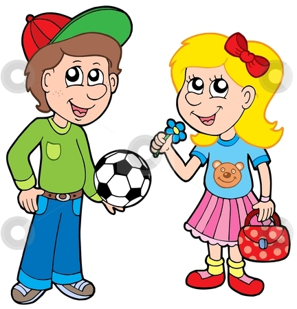 Teenage Girl Soccer Clipart
