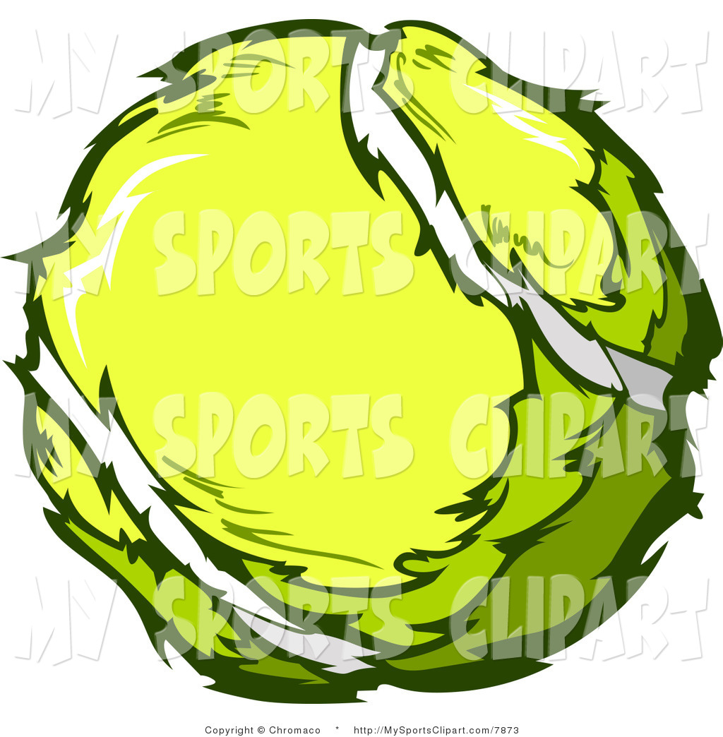 Tennis Ball Clipart Black And White Sports Clip Art Of A ...