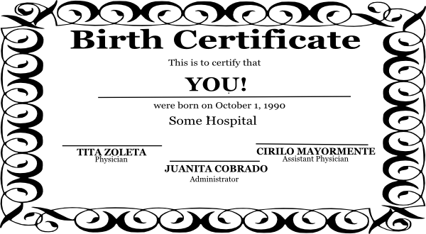 Birth Certificate Clipart Clipart Kid – Online Birth Certificate Maker