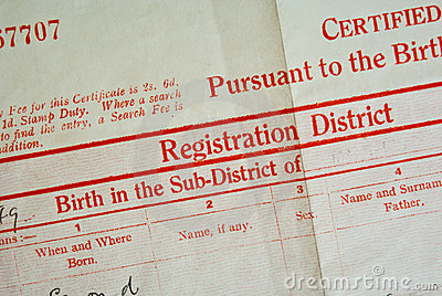 Birth Certificate Stock Images   Image  12362094