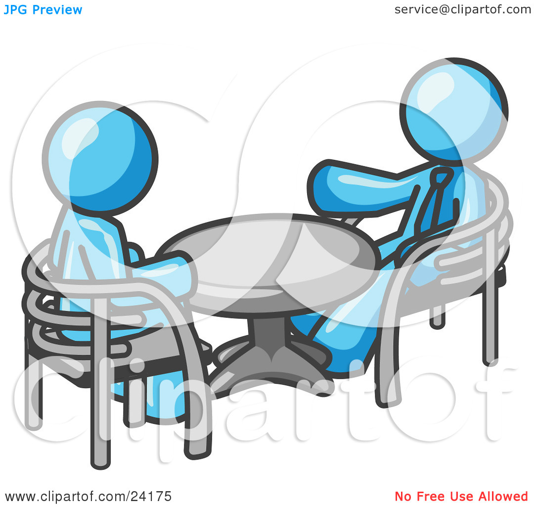 Funny Office Meeting Clip Art Clipart Illustration Of Two