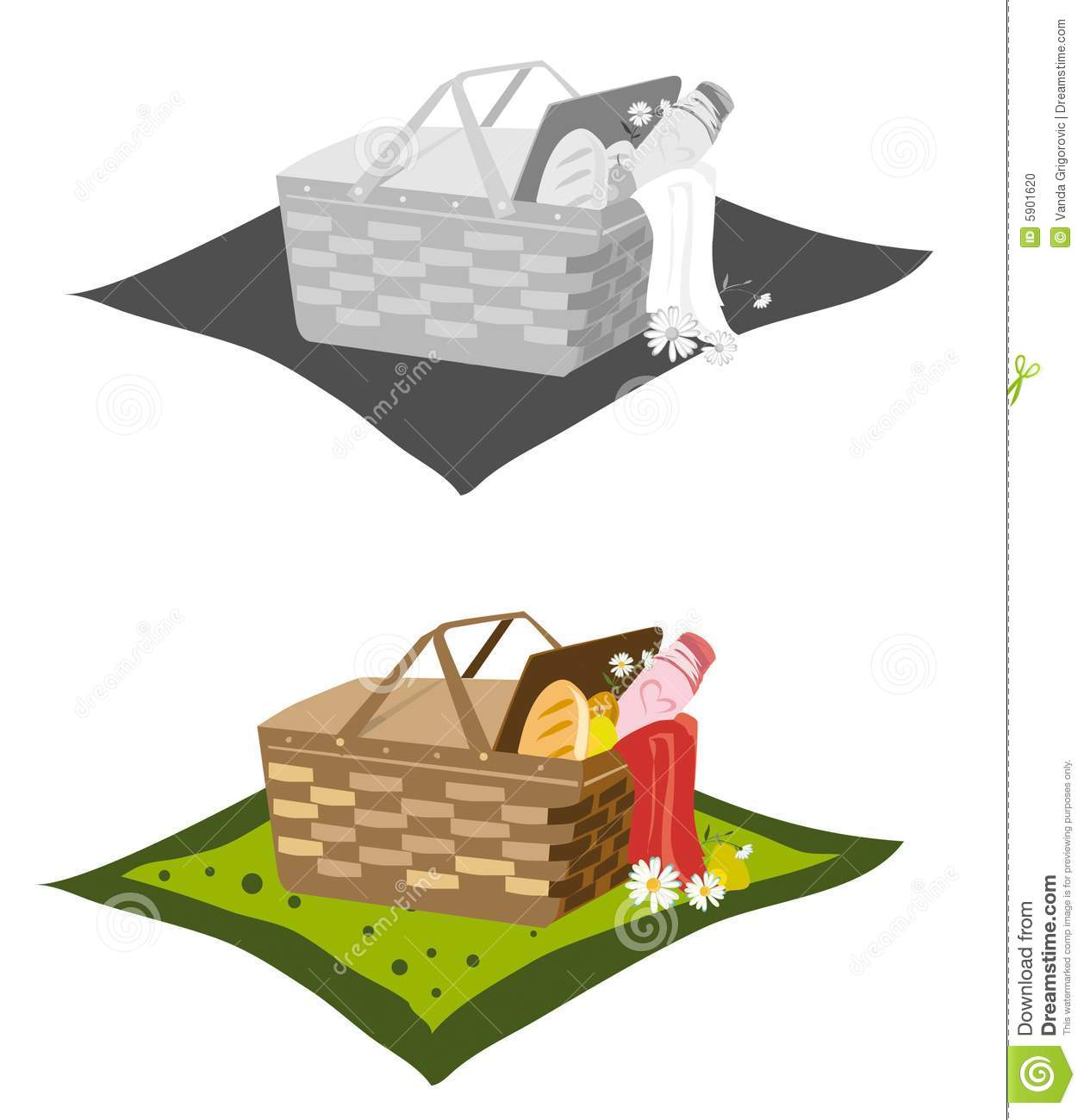 Picnic Blanket Clipart Black And White Picnic Basket And Blanket