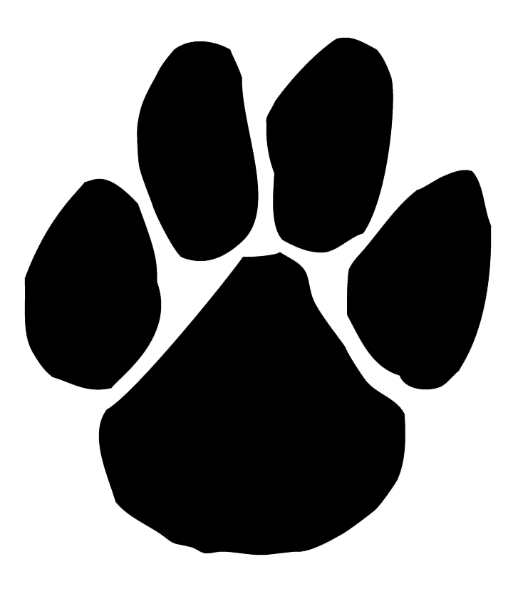 panther paw print clipart clipart suggest