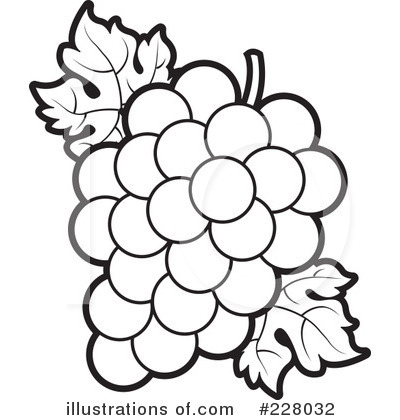 Grape Leaf Black And White Clipart - Clipart Suggest