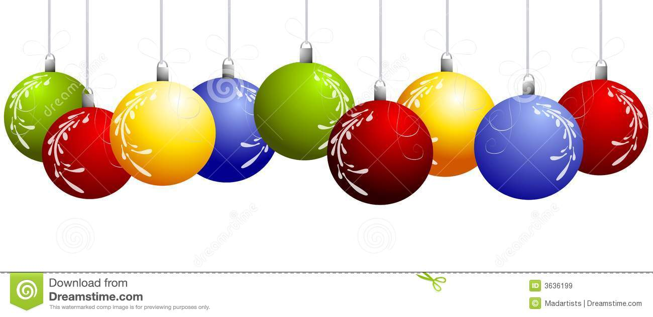 Christmas Ornament Border Clipart - Clipart Suggest