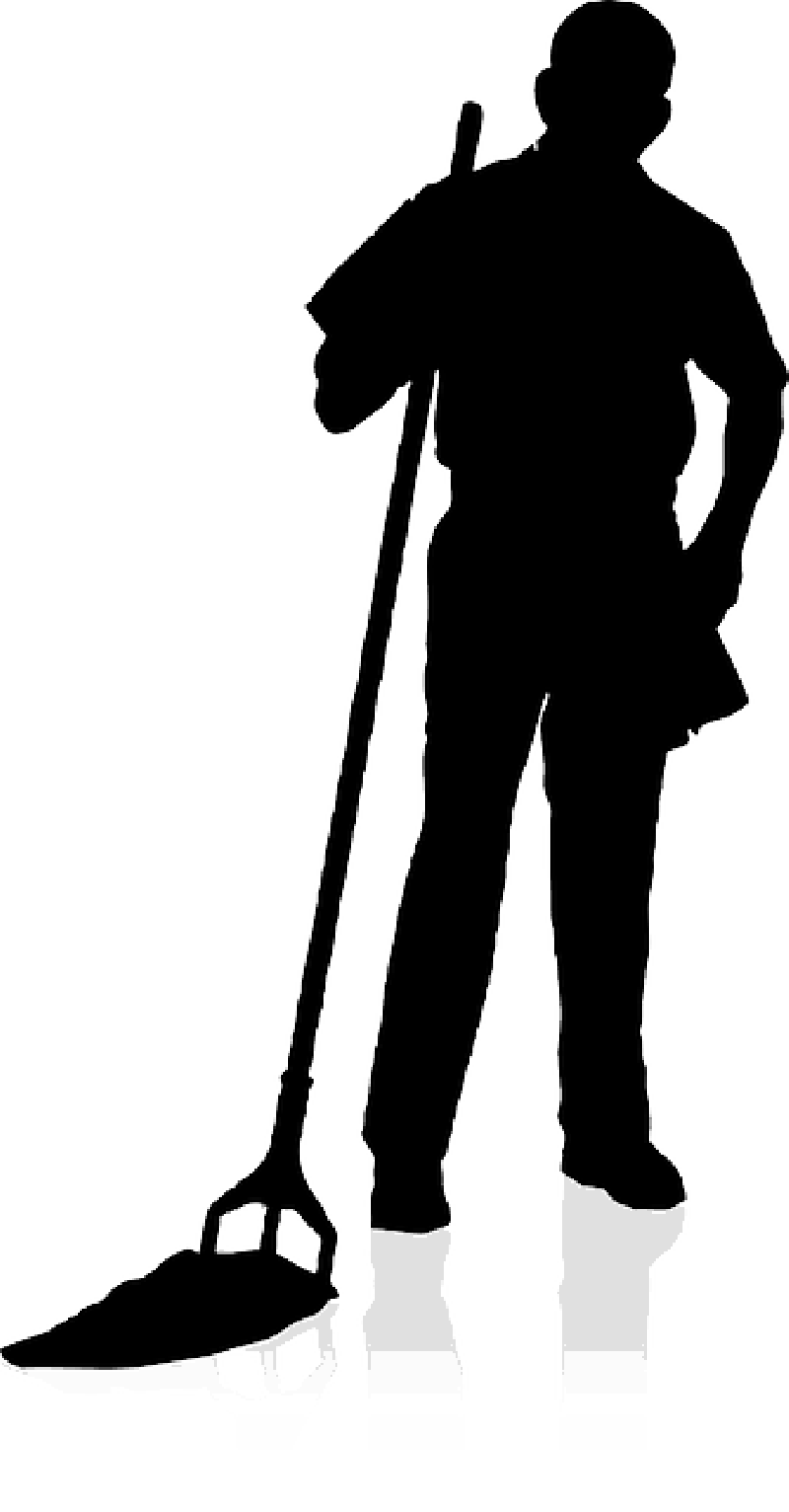 Janitorial Silhouette Clipart Clipart Suggest