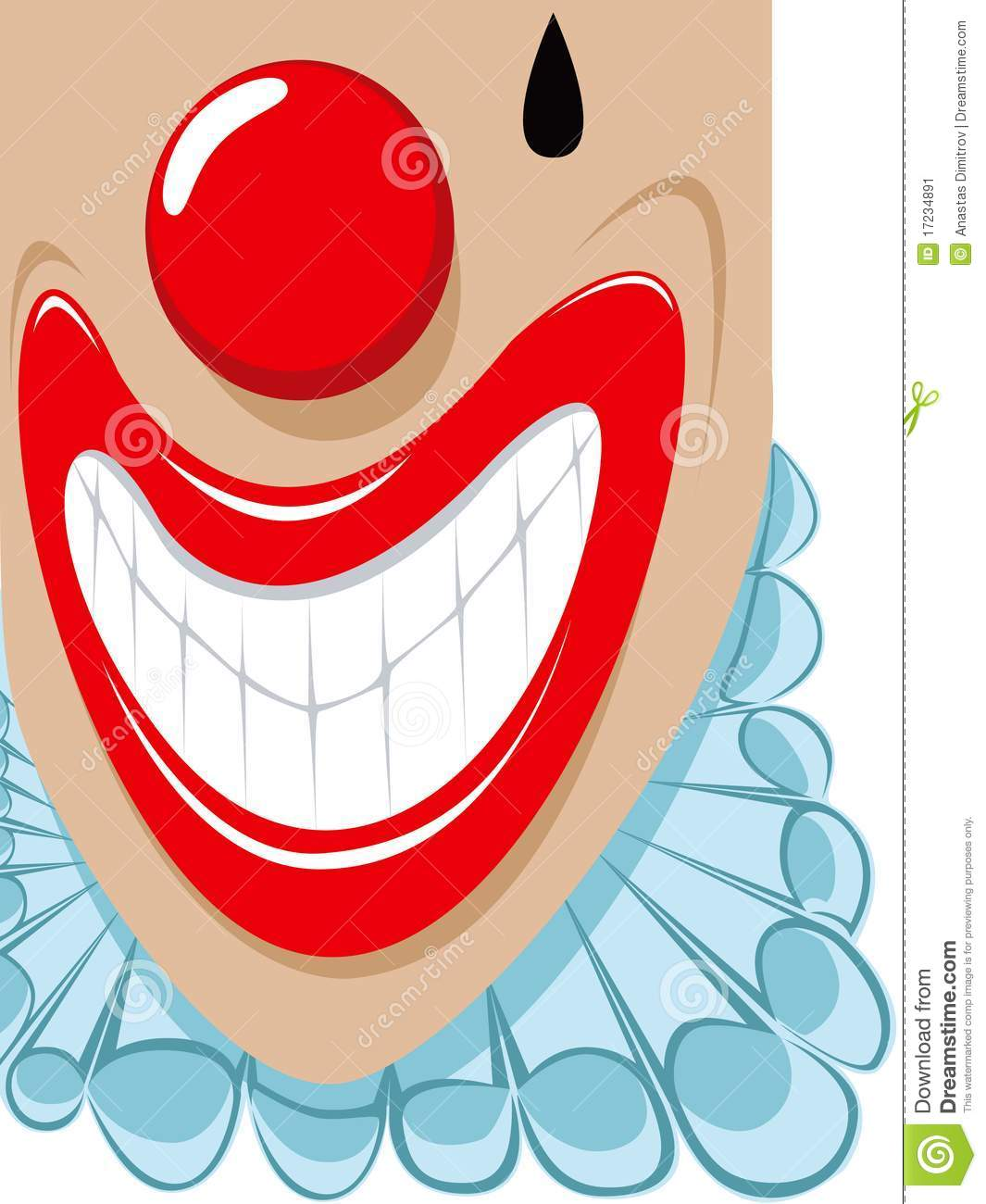 Smilling Clown With His Collar Poping Out Of The Picture Frame  Please