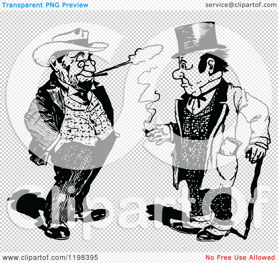 Two Men Talking Clipart