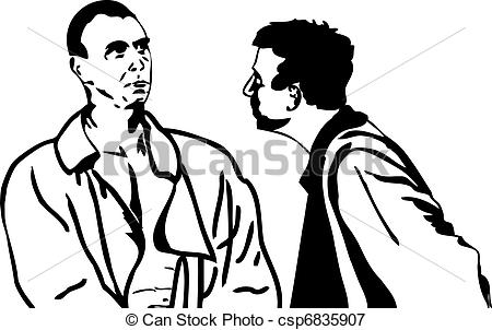 Two Men Talking Clipart Two Men Talking Csp6835907