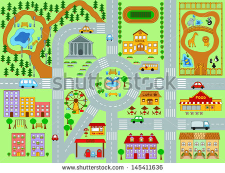 Vector Download   City Map For Kids