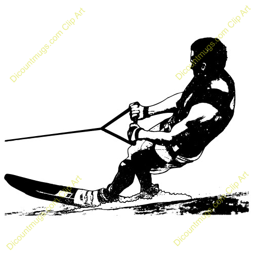 Water Skiing Clipart Water Skiing