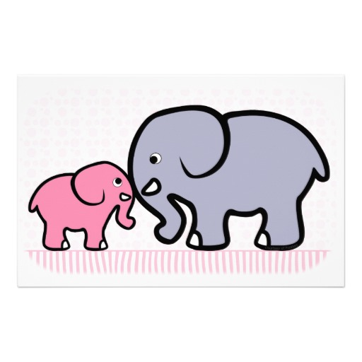 Mommy And Baby Elephant Clipart - Clipart Kid