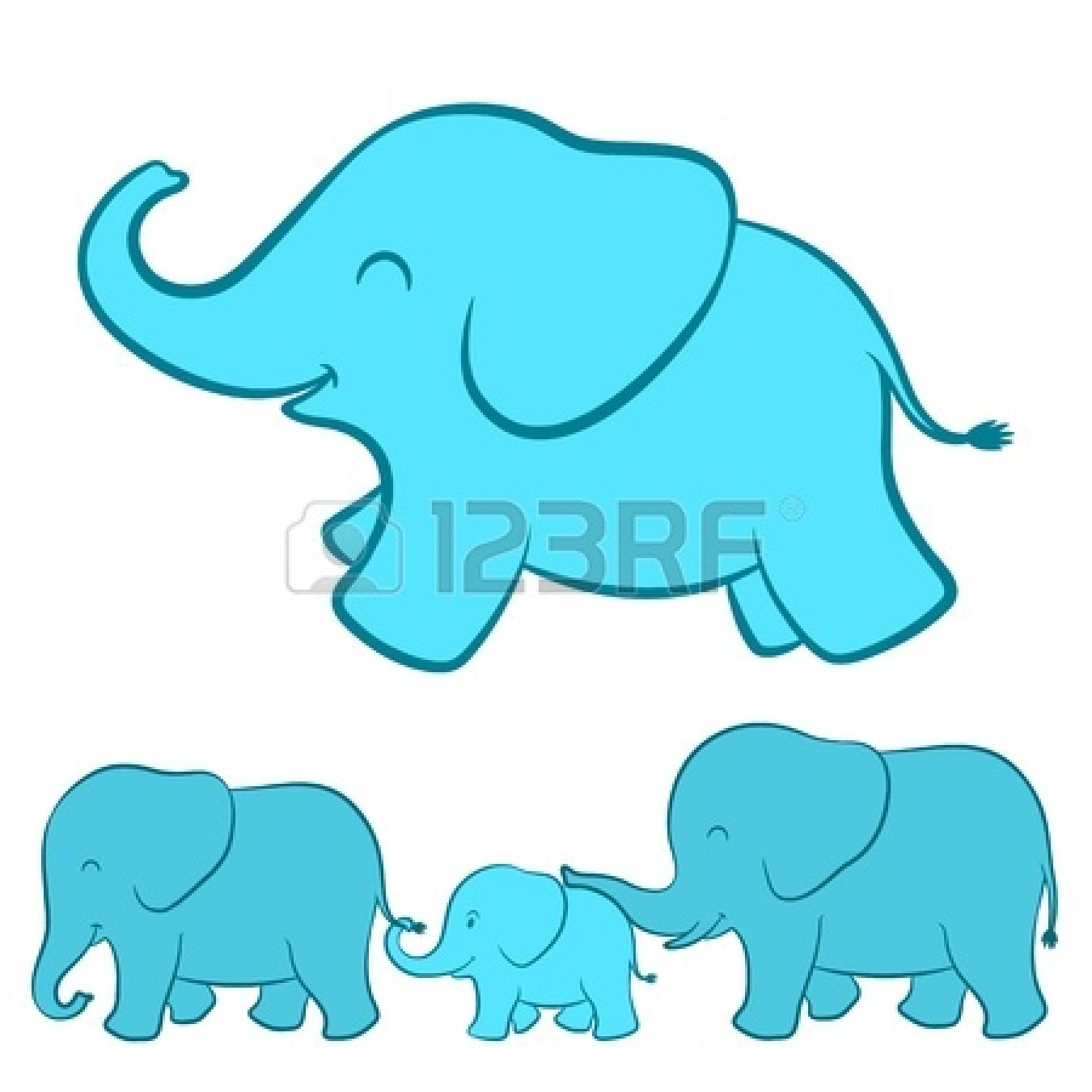 mommy and baby elephant clipart clipart suggest