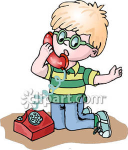 Boy On Phone Clip Art