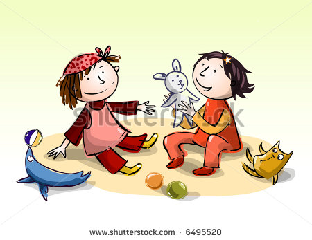 Children Sharing Toys Clipart   Free Clip Art Images