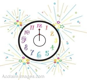 New Year's Clock Clipart - Clipart Kid