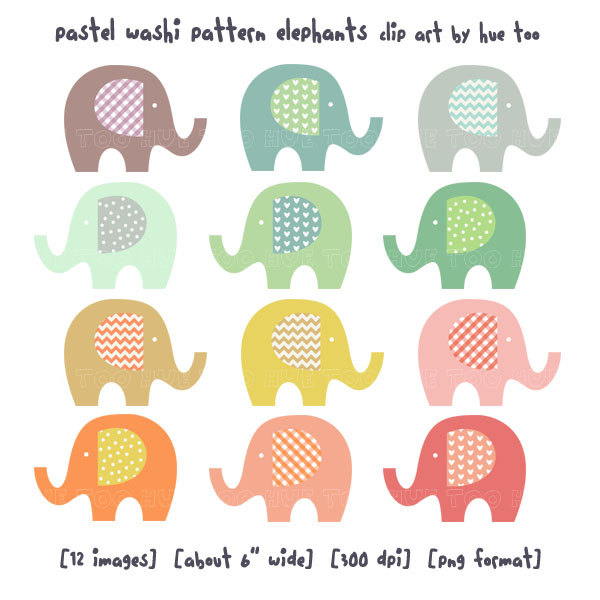 Clip Art Baby Elephant Clip Art mommy and baby elephant clipart kid clip art pastel washi by huetoo