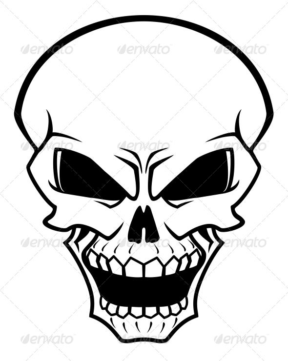 Evil Skull Symbol   Tinkytyler Org   Stock Photos   Graphics