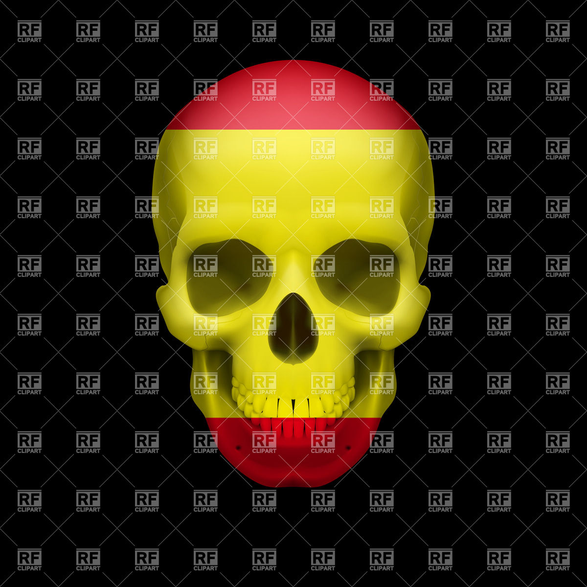 Flag On Human Skull 35120 Download Royalty Free Vector Clipart  Eps