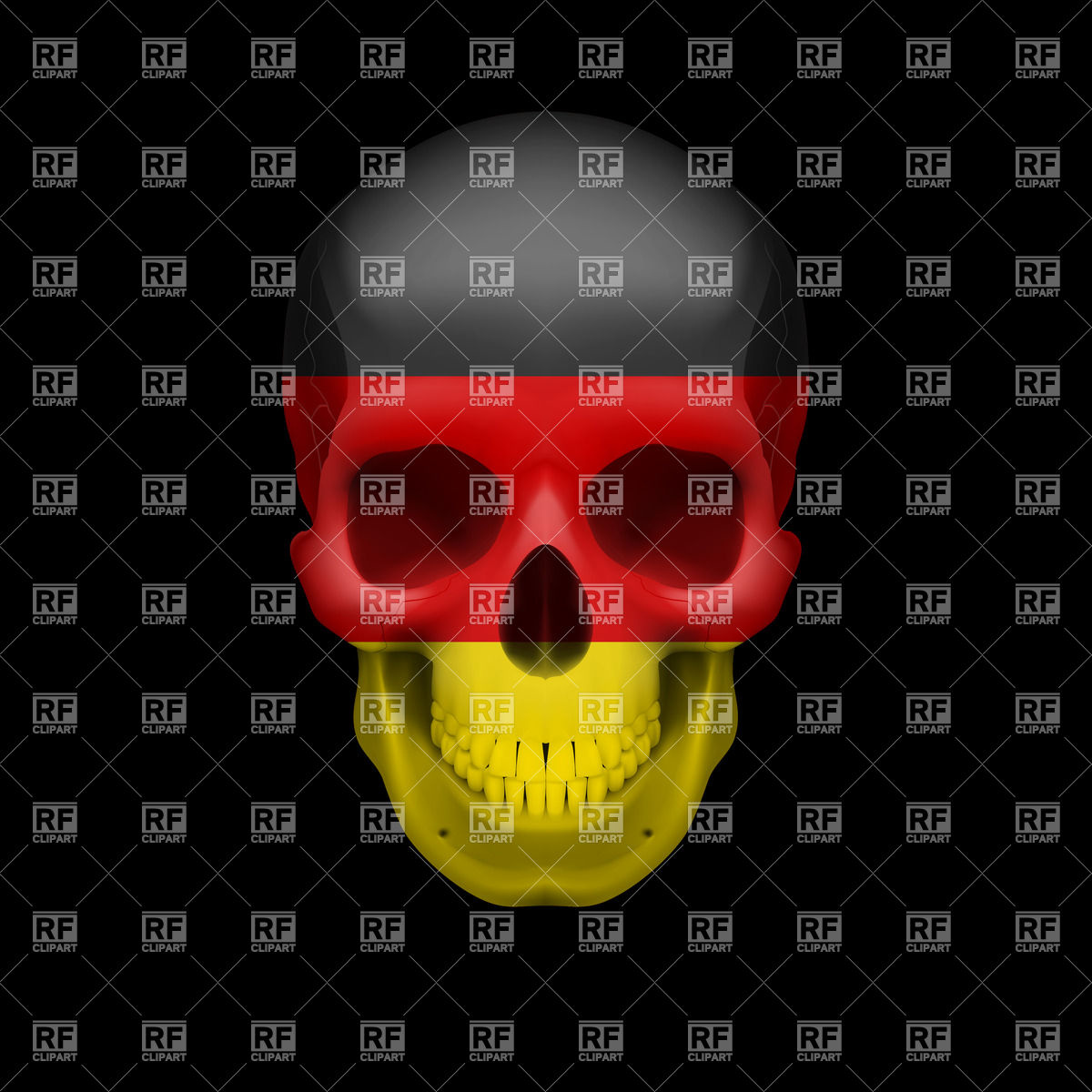 Human Skull With Flag Of Germany 35145 Download Royalty Free Vector