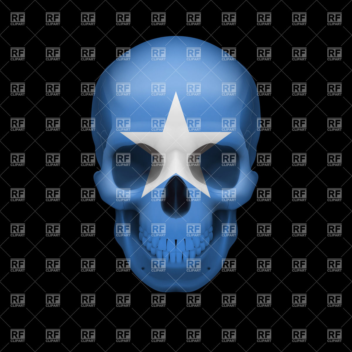 Human Skull With Flag Of Somalia 35113 Download Royalty Free Vector