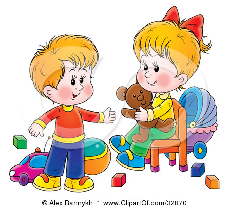 Kids Sharing Toys Clipart Children Sharing Toys Clipart