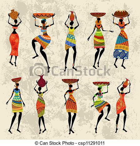 Art Of African Woman On Grunge Background Csp11291011   Search Clipart
