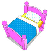 Clip Art Toddler Bed Clipart - Clipart Kid
