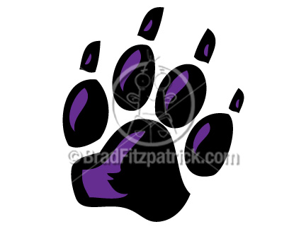 Black Panther Paw Print Clip Art   Black Panther Paw Print Clipart