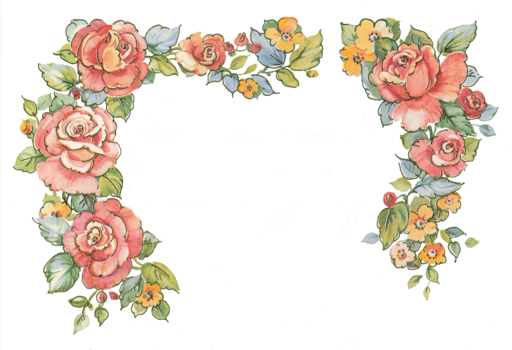 rose border clipart clipart suggest