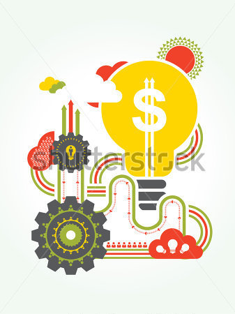 Business Finance     Concepto De Idea De Negocio Ilustraci N