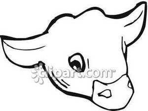Cute Cow Face   Royalty Free Clipart Picture