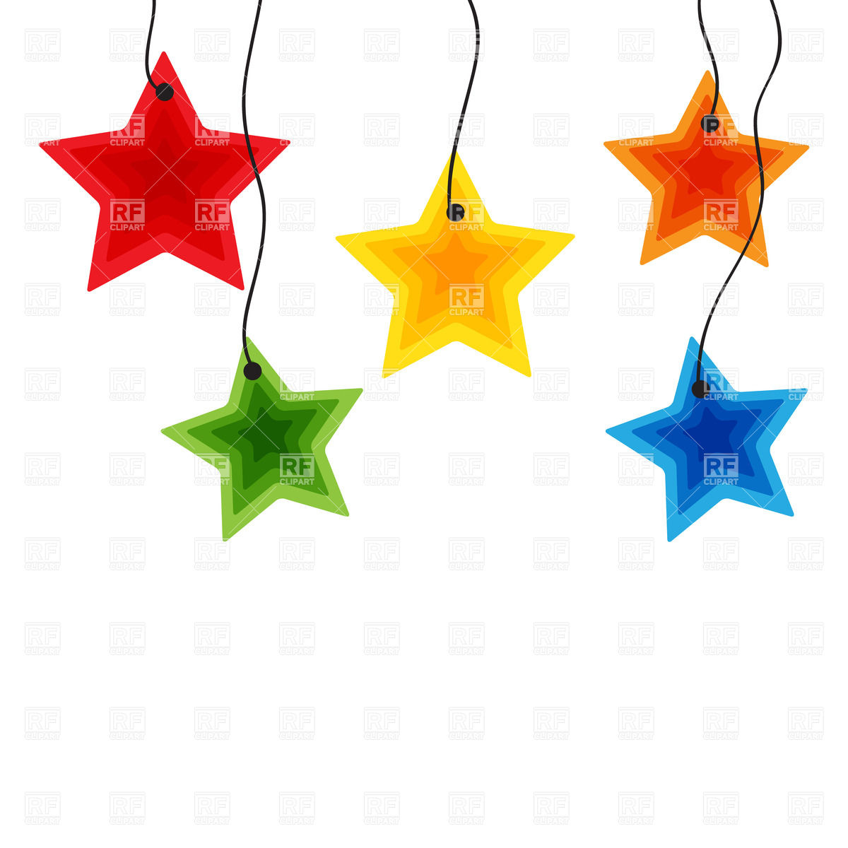 String Of Stars Clipart - Clipart Kid