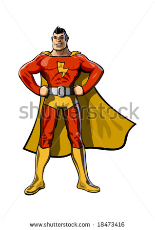 Flash Superhero Clipart The Superhero   Stock Vector