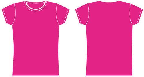 Girls pink t shirt template free vector clip arts clip art for Pink t shirt template