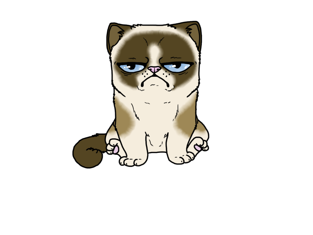 grumpy cat clipart clipart suggest