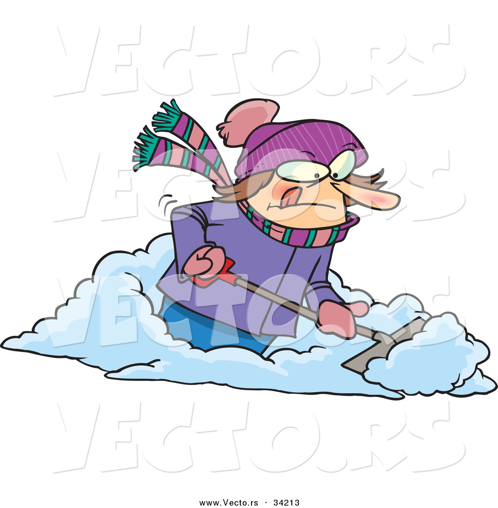 shoveling snow clipart free - photo #22
